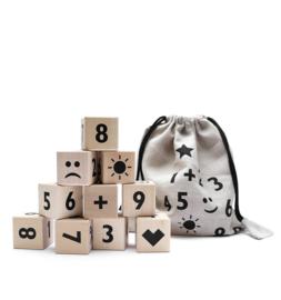 ooh noo houten blokken cijfers (zwart)