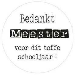 Sticker  Bedankt Meester Voor Dit Toffe Schooljaar!