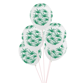 My Little Day ballonnen Green Leaves (5 stuks)