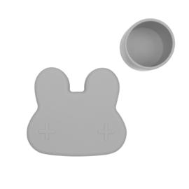 We Might Be Tiny | Snackie | Lunchtrommel Konijn (grijs)