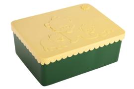 Blafre | Lunchtrommel ijsbeer (groen/geel)