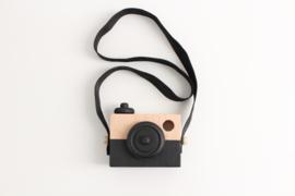 Manowoods Houten speelgoed camera (zwart)