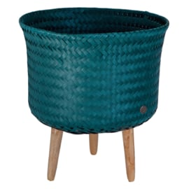 Handed By Up Mid bloempot 39 cm (blauwgroen)