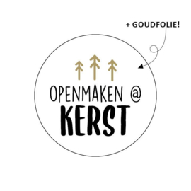 Sticker Openmaken @ Kerst
