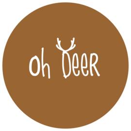 Label-R | Muurcirkel Oh Deer Hazelbruin