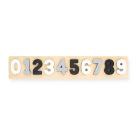 Jollein | Houten Puzzel Cijfers (wit / grijs / zwart)