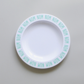 Buddy and Bear melamine bord Nom Nom Nom (mint)