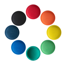 Stapelstein | Stapelstenen Regenboog Groot (8 stuks) - BLACK EDITION