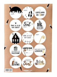 Stickervel Sinterklaas (15 stickers)