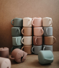 Mushie   Siliconen Snack Cup - Cloudy Mauve