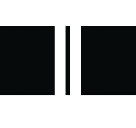 Label-R | Buitenkussen Zwart met Twee Strepen Wit (60 x 40 cm)