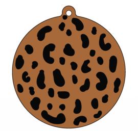 Label-R   Kersthanger Leopard Hazelbruin