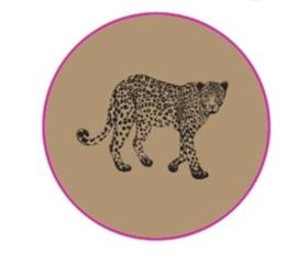 Sticker Leopard Kraft