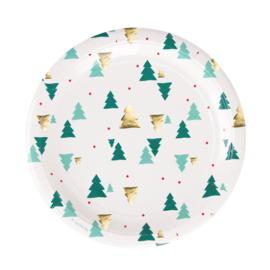 My Little Day papieren bord Christmas Trees (8 stuks)