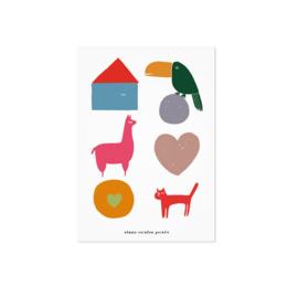 Studio Rainbow Prints - A5 Poster Dieren en blokken