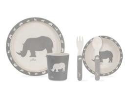Jollein | Dinnerset Safari Stone Grey