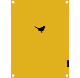 Label-R | Buitenposter Vogeltje (mosterdgeel)
