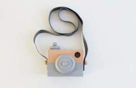 Manowoods Houten speelgoed camera (grijs)