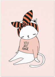 Studio Rainbow Prints - A5 Poster Poes You Are Loved (roze)