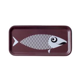 Nämä dienblad Moustache Fish 27,3 x 13,2 cm (aubergine)