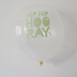 The Cherry on Top - Ballonnen Hip Hip Hooray (wit/mintgroen)