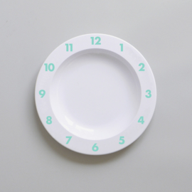 Buddy and Bear melamine bord Dinner Time (mint)