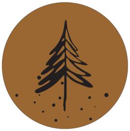 Label-R | Muurcirkel Denneboom hazelbruin