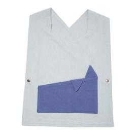 Fabelab peuterschort Foggy Blue (48 x 35 cm)