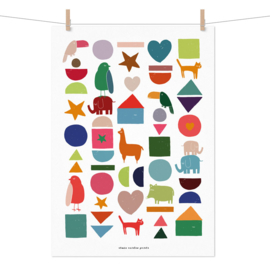 Studio Rainbow Prints - A3 poster Blokken en dieren