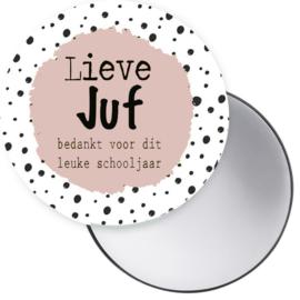 Esva Design | Spiegeltje Lieve Juf (roze)
