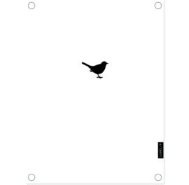 Label-R | Tuinposter Vogeltje (wit)