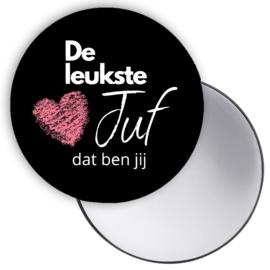 Esva Design | Spiegeltje De Leukste Juf... (zwart)