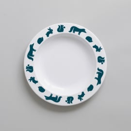 Buddy and Bear melamine bord Bosdieren (blauw)