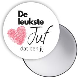 Esva Design | Spiegeltje De Leukste Juf... (wit)