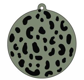 Label-R   Kersthanger Leopard Olijfgroen