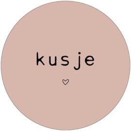Label-R Kids | Muurcirkel Tekst Kusje (oudroze)