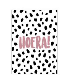 Ansichtkaart 101 Dots Hoera