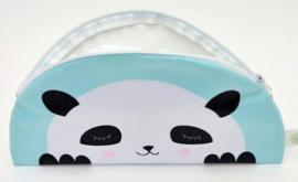 Kids Boetiek etui Panda (mint/blauw)