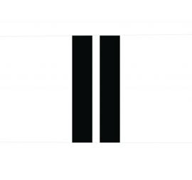 Label-R | Buitenkussen Wit met Twee Strepen Zwart (60 x 40 cm)