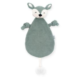 Jollein | Knuffeldoekje / Speendoekje Deer (ash green)