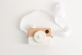 Manowoods Houten speelgoed camera (wit)
