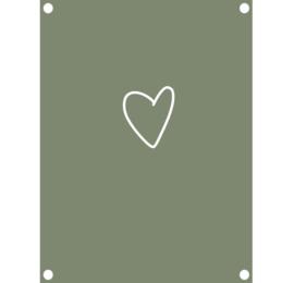 Label-R | Tuinposter Hart (olijfgroen)