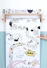 Olli Ella 8 meter kleurplaat Playpa - Ocean