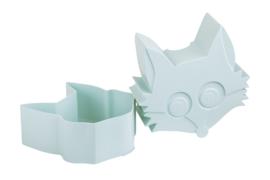 Blafre | Snack doosje Fox (lichtblauw)
