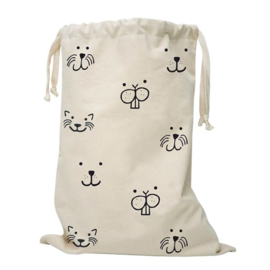 Tellkiddo Fabric Bag Animal Faces