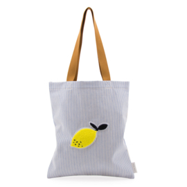 Sticky Lemon | Shopper / Tote bag blauw-wit gestreept