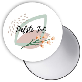 Esva Design | Spiegeltje Liefste Juf Bloemen (Groen)