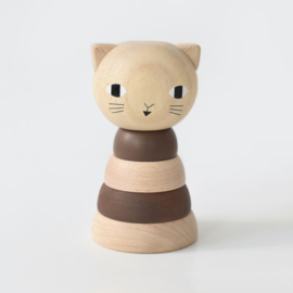 Wee Gallery | Houten Stapeltoren - Cat
