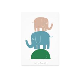 Studio Rainbow Prints - A5 Poster Olifanten
