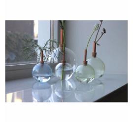 Scandinaviaform bloemenvaas Glasilium 12 cm (doorzichtig)
